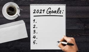 Set yourself some goals for the new year.