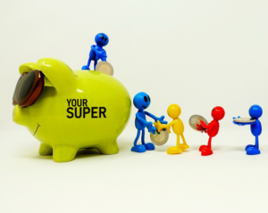 People making a contribution to super